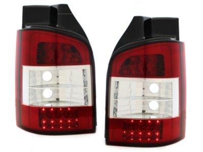 Задние фонари LED Red Crystal на Volkswagen Multivan / Caravelle T5