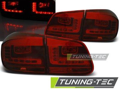 Задние фонари LedTech Red Smoke на VW Tiguan рестайл