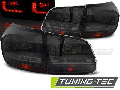 Задние фонари LedTech Smoke на VW Tiguan рестайл
