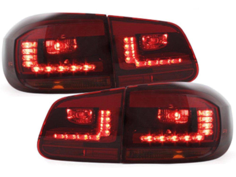 Задние фонари LED Red Smoke на VW Tiguan рестайл