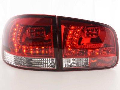 Задние фонари LED Red Crystal на Volkswagen Touareg I