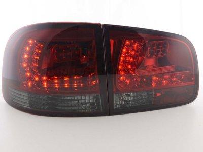 Задние фонари LED Red Smoke на Volkswagen Touareg I