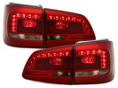 Задние фонари LED Red Smoke на Volkswagen Touran рестайл