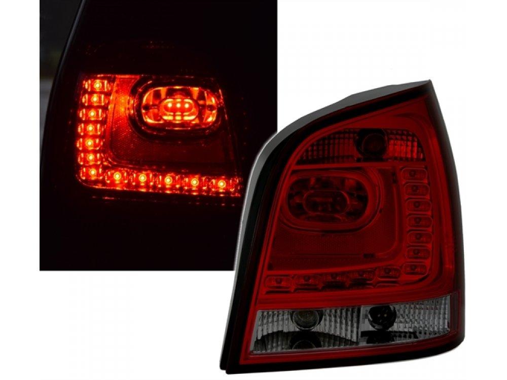Задние светодиодные фонари тёмно-красные на Volkswagen Polo 9N
