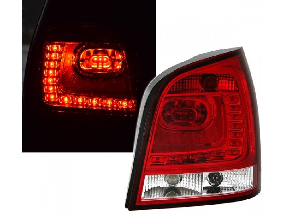 Задние светодиодные фонари красные на Volkswagen Polo 9N