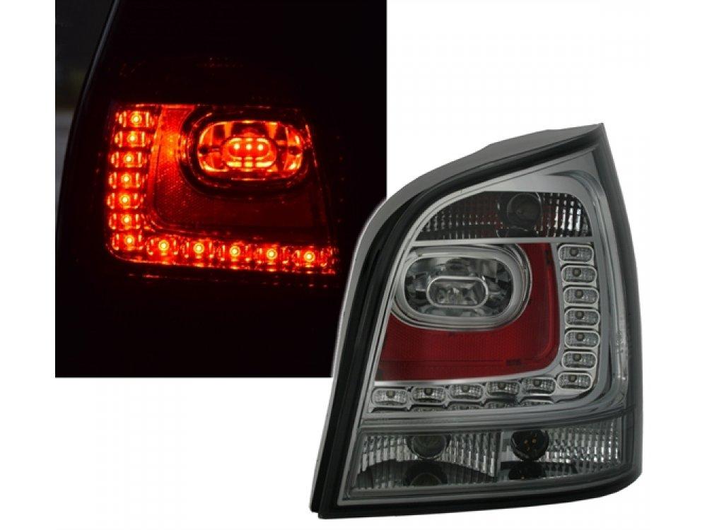 Задние светодиодные фонари тёмные на Volkswagen Polo 9N