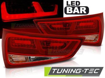 Задние тюнинговые фонари LED Red Crystal для Audi A1 8X