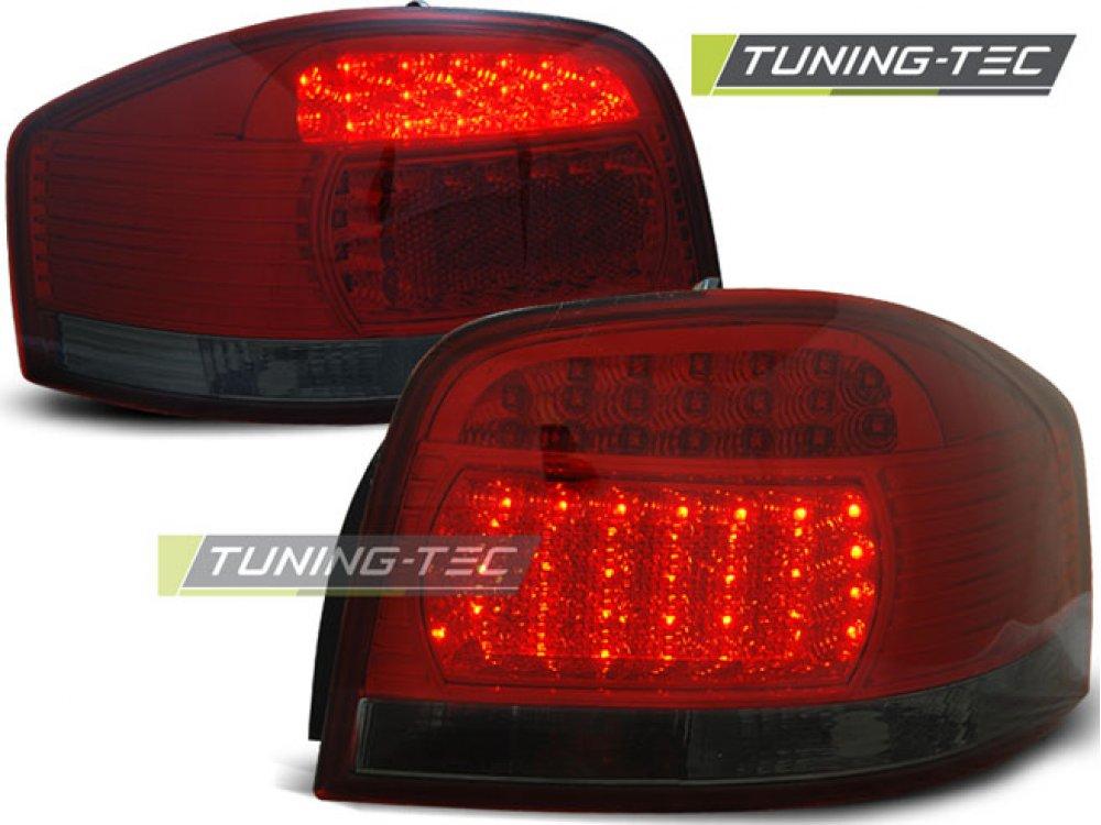 Задние фонари LED Red Smoke на Audi A3 8P Hatchback 3D / 5D