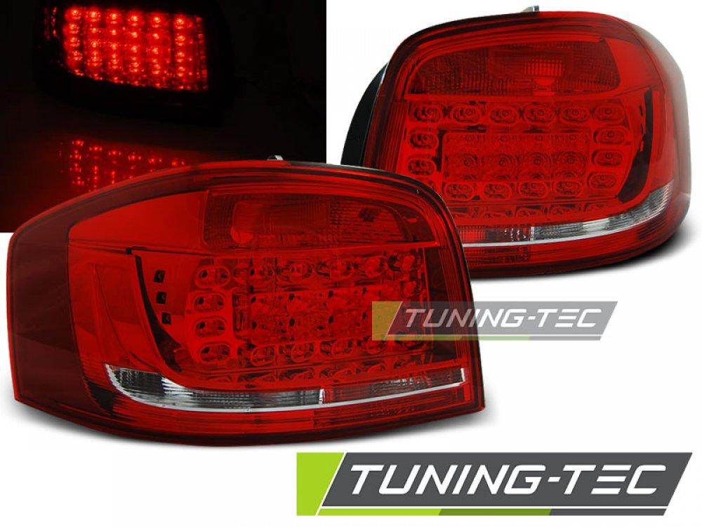 Задние фонари LED Red Crystal на Audi A3 8P Hatchback 3D / 5D