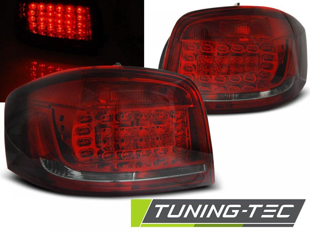 Задние фонари LED Red Smoke Var2 на Audi A3 8P Hatchback 3D / 5D