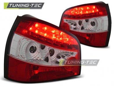 Задние фонари LED Red Crystal на Audi A3 8L
