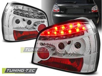 Задние фонари LED Chrome на Audi A3 8L