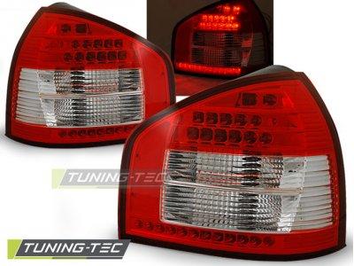 Задние фонари LED Red Crystal V3 на Audi A3 8L