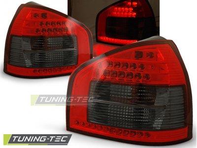 Задние фонари LED Red Smoke на Audi A3 8L