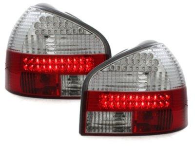 Задние тюнинговые фонари LED Red Crystal на Audi A3 8L