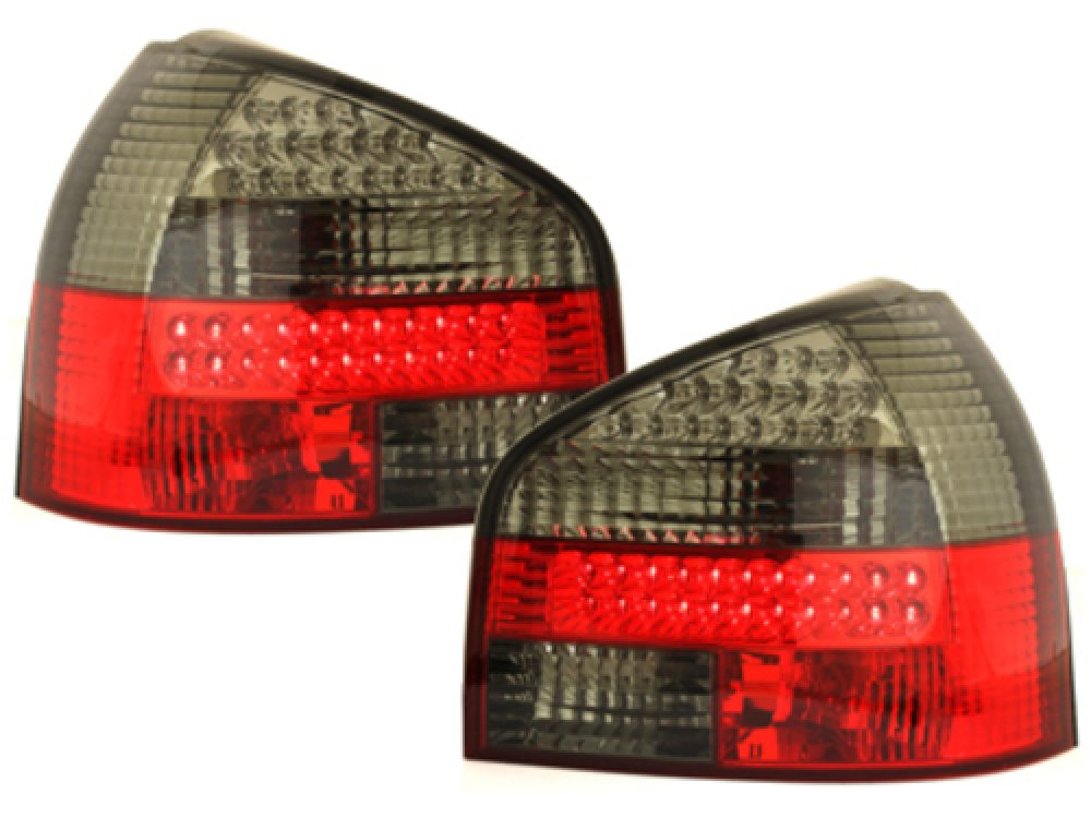 Задние тюнинговые фонари LED Smoke на Audi A3 8L