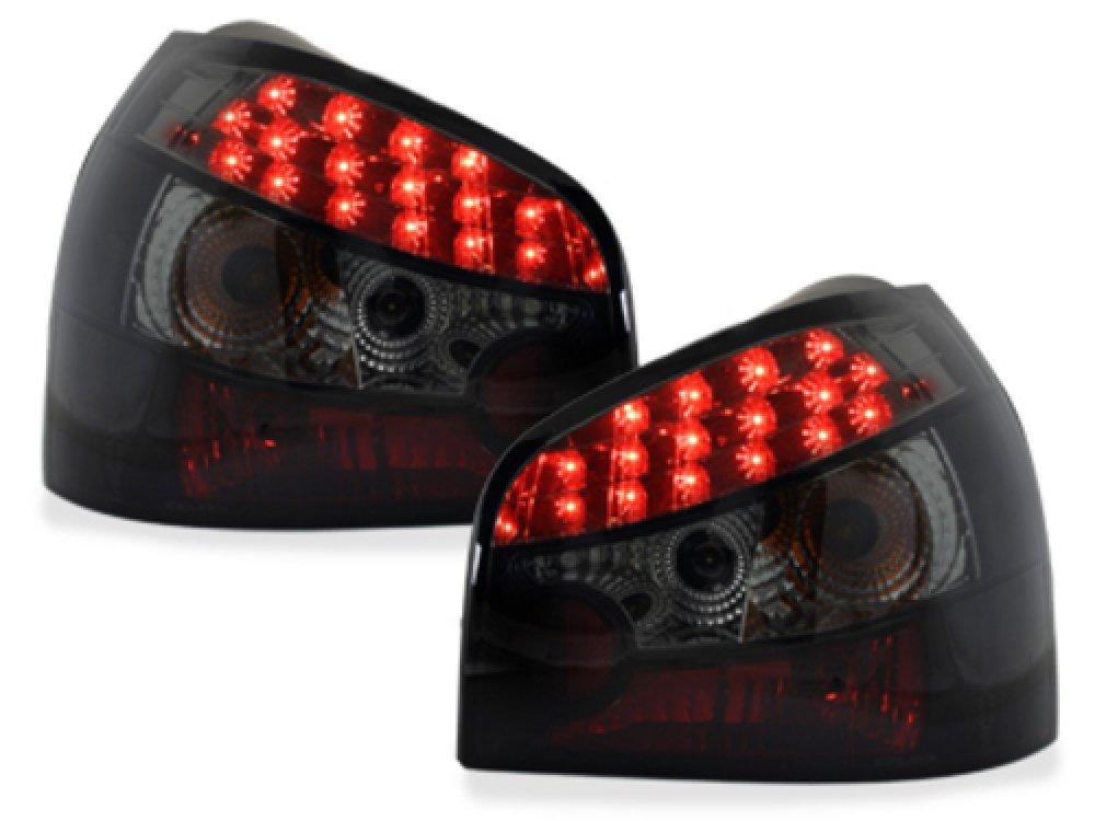 Задние светодиодные фонари LED Black Smoke на Audi A3 8L