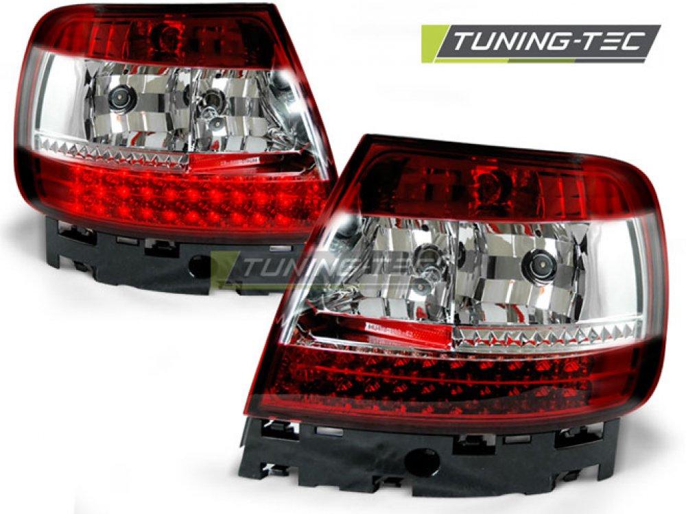 Задние фонари LED Red Crystal V3 на Audi A4 B5