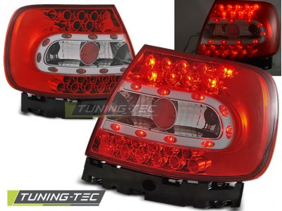 Задние фонари LED Red Crystal Var2 на Audi A4 B5