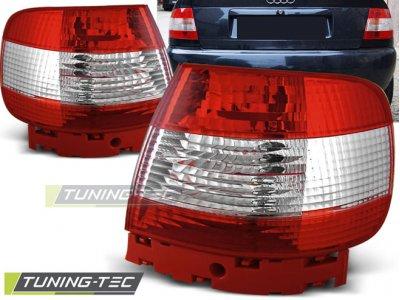 Задние фонари Red White на Audi A4 B5