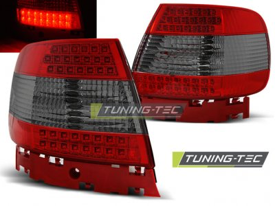 Задние фонари LED Red Smoke Var2 на Audi A4 B5