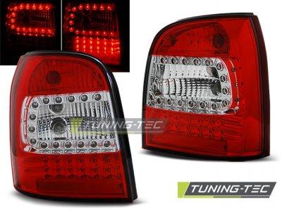 Задние фонари LED Red Crystal Var2 на Audi A4 B5 Avant
