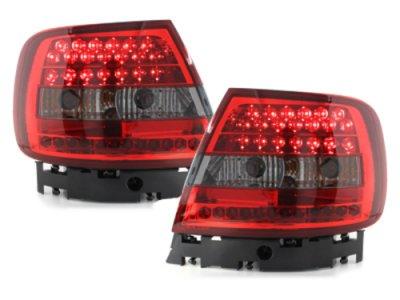 Задние фонари LED Red Smoke на Audi A4 B5