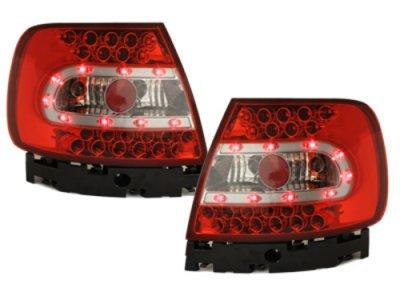 Задние фонари LED Red Crystal на Audi A4 B5