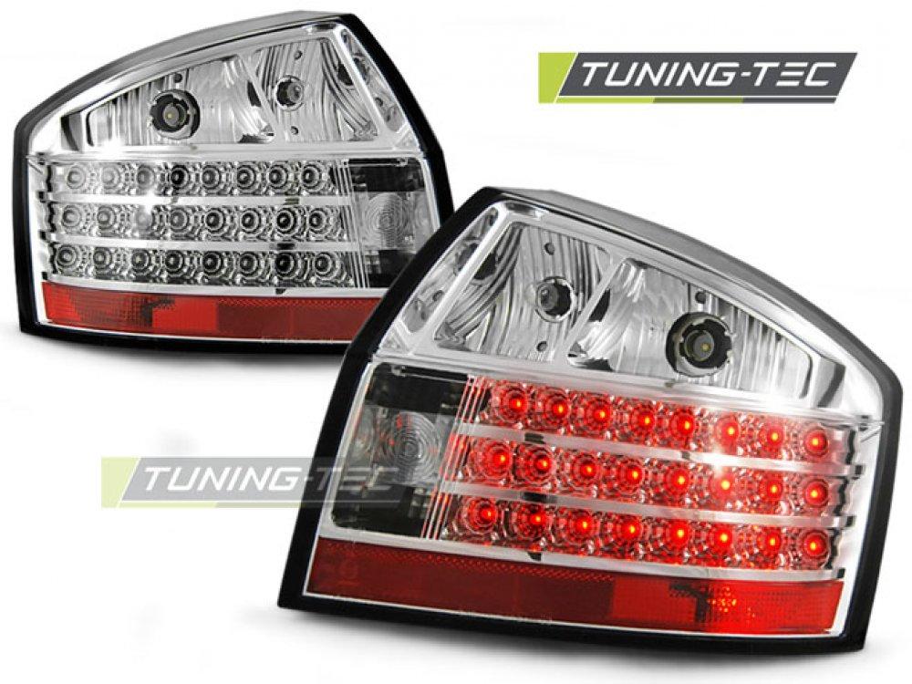 Задние фонари LED Chrome на Audi A4 B6
