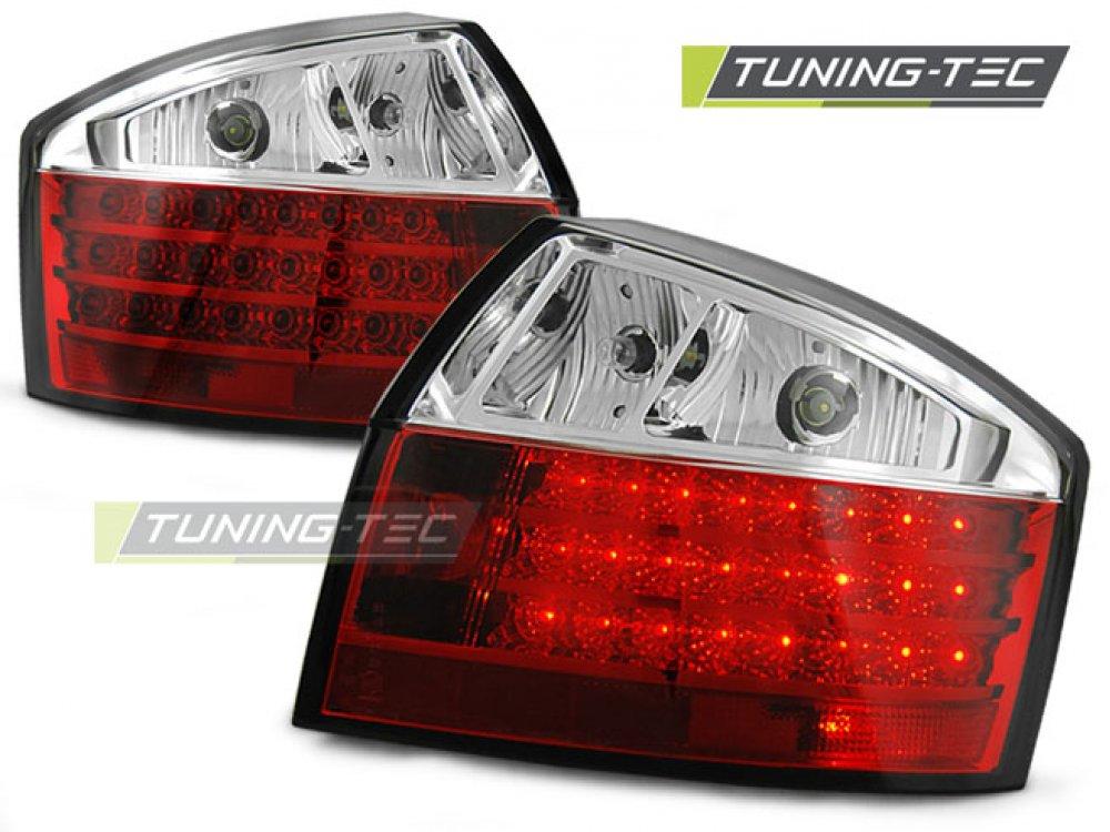 Задние светодиодные фонари LED Red Crystal на Audi A4 B6