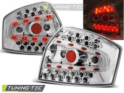 Задние фонари LED Chrome Var2 на Audi A4 B6