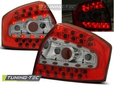 Задние фонари LED Red Crystal V3 на Audi A4 B6