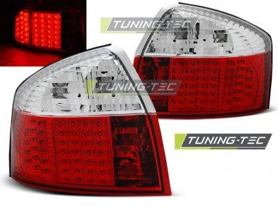 Задние фонари LED Red Crystal Var2 на Audi A4 B6