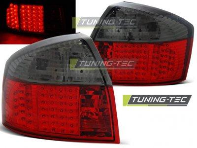 Задние светодиодные фонари LED Red Smoke на Audi A4 B6