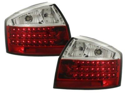Задние фонари LED Red Crystal на Audi A4 B6