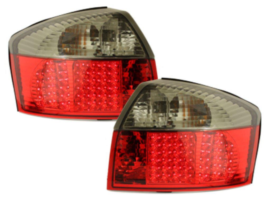 Задние диодные фонари LED Red Black на Audi A4 B6
