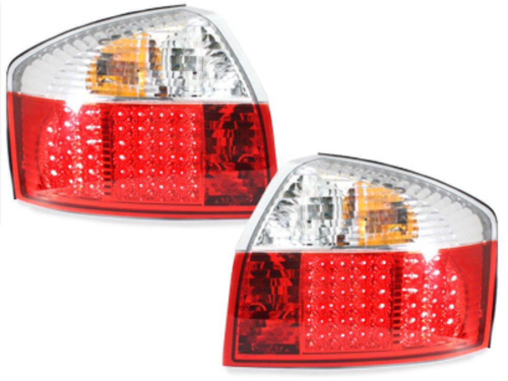 Задние диодные фонари LED Red Crystal на Audi A4 B6