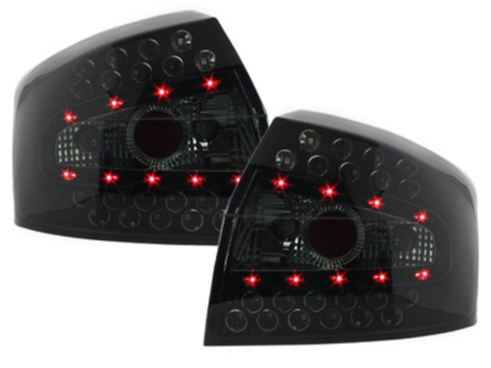 Задние диодные фонари LED Black Smoke на Audi A4 B6