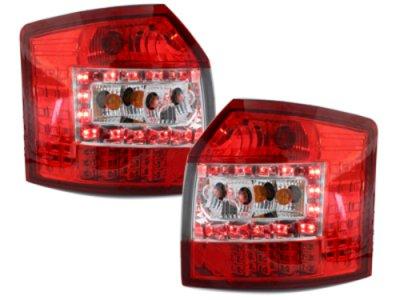 Задние фонари LED Red Crystal на Audi A4 B6 Avant