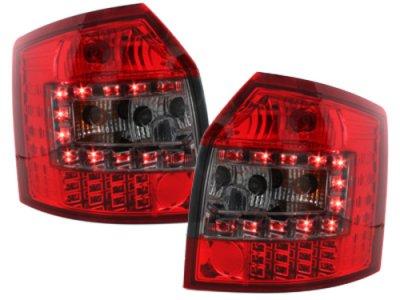 Задние фонари LED Red Smoke на Audi A4 B6 Avant