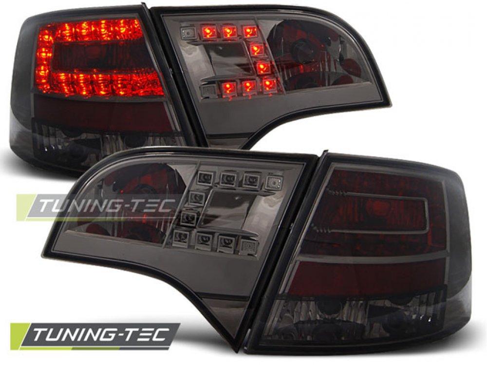 Задние фонари диодные LED Smoke на Audi A4 B7 Avant