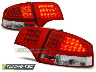 Задние фонари диодные LED Red Crystal на Audi A4 B7 Sedan