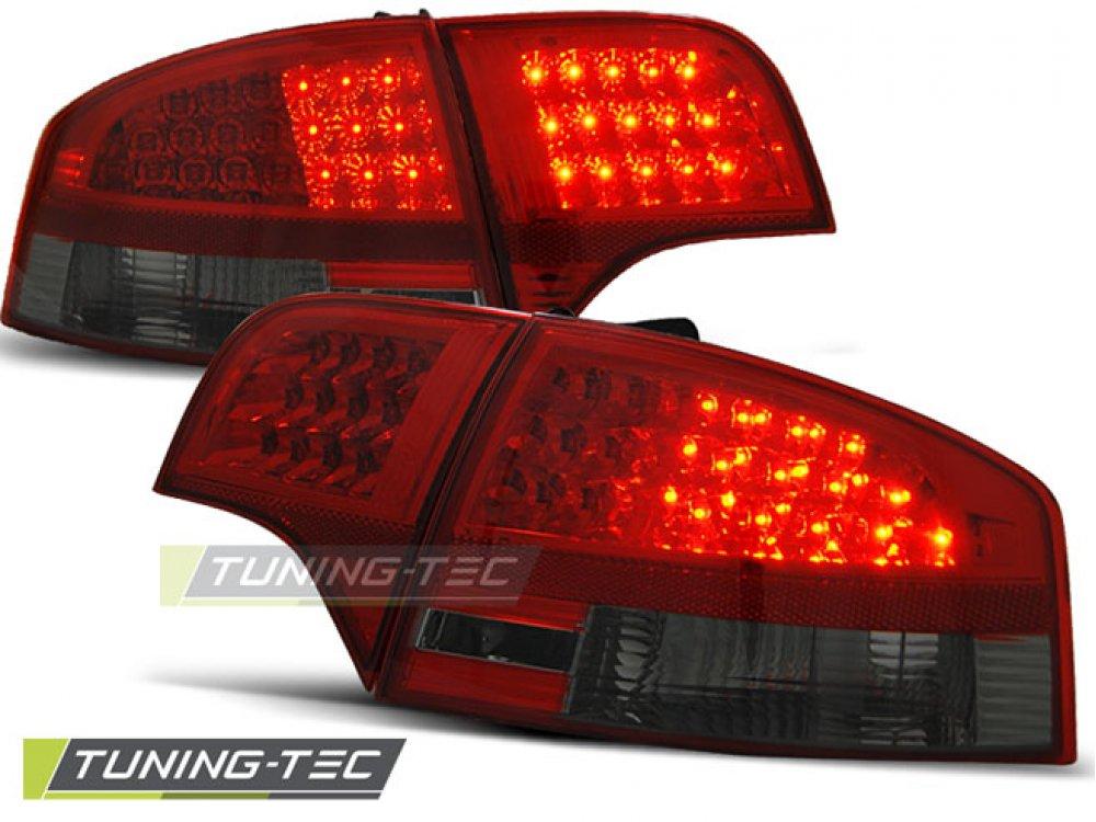 Задние фонари диодные LED Red Smoke на Audi A4 B7 Sedan