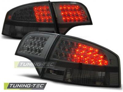 Задние фонари диодные LED Smoke на Audi A4 B7 Sedan