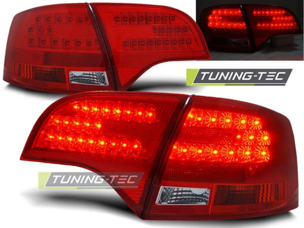 Задние фонари диодные LED Red Crystal на Audi A4 B7 Avant