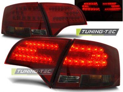 Задние фонари диодные LED Red Smoke на Audi A4 B7 Avant