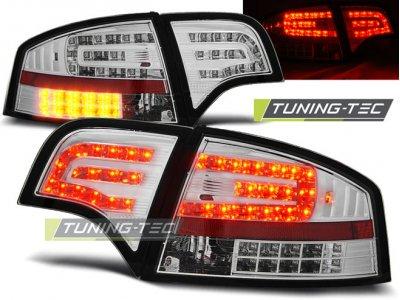 Задние фонари диодные LED Chrome на Audi A4 B7 Sedan