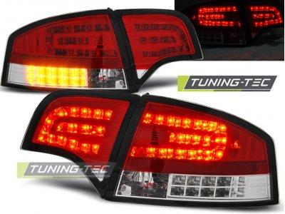 Задние фонари диодные LED Red Crystal Var2 на Audi A4 B7 Sedan