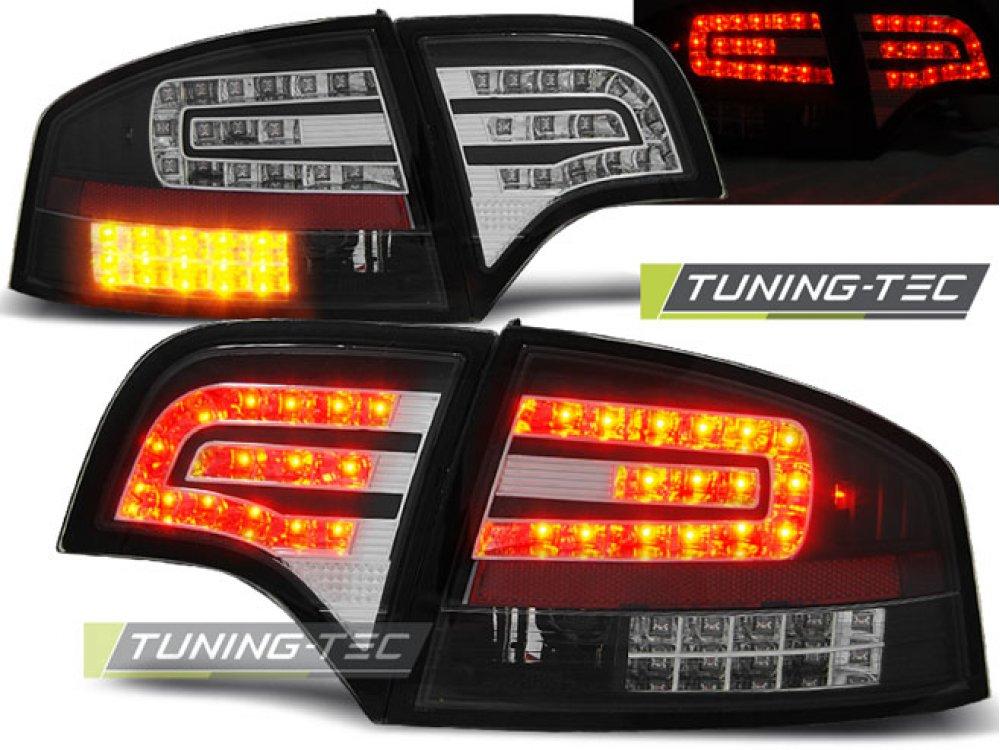Задние фонари диодные LED Black на Audi A4 B7 Sedan