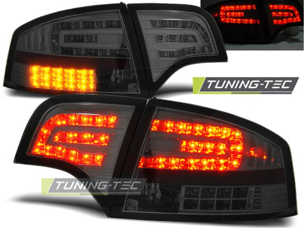 Задние фонари диодные LED Smoke Var2 на Audi A4 B7 Sedan